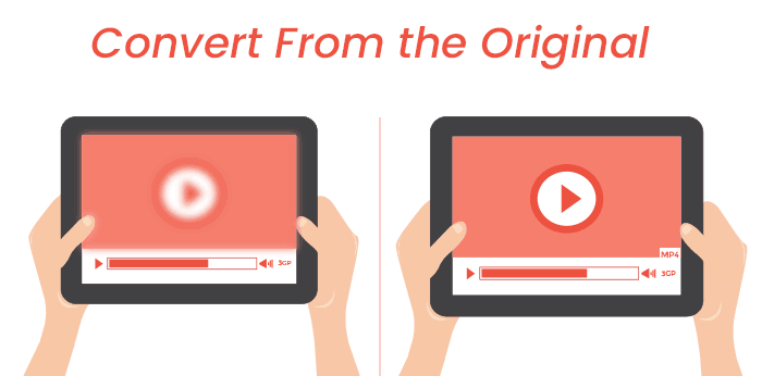 converting format of marketing videos