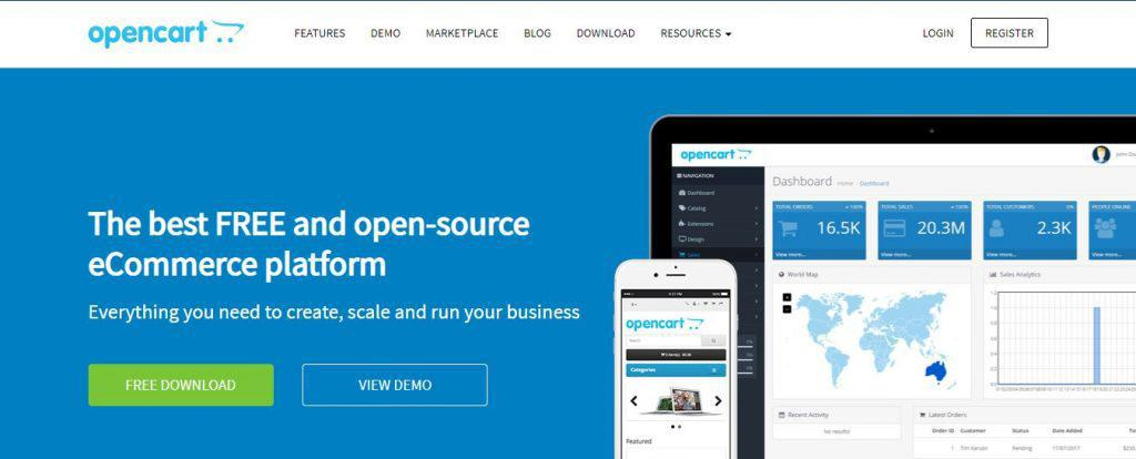 Magento vs WooCommerce vs Shopify vs Opencart
